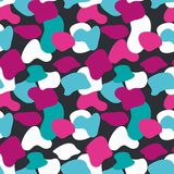 Blue and pink camouflage masking vector pattern. Universal colors background Stock Photography