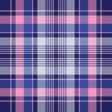 Blue pink check plaid pixel seamless pattern. Vector illustration vector illustration