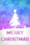 Blue pink christmas Stock Image