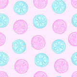 Blue and pink citruses Royalty Free Stock Photos
