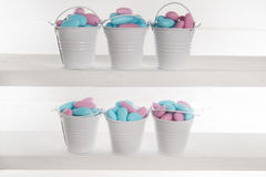 Blue and pink colored candy Royalty Free Stock Photography