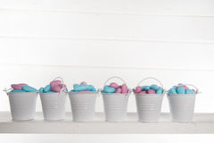 Blue and pink colored candy Stock Photography