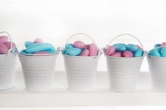 Blue and pink colored candy Royalty Free Stock Photos