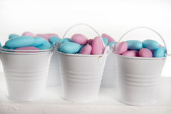 Blue and pink colored candy Stock Photos
