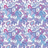 Blue and Pink Ethnic Pattern Stock Photos