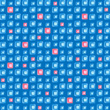 Blue and pink fragments of glass on a blue background Stock Photo