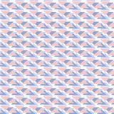 Blue and pink geometric seamless pattern with triangles Royalty Free Stock Photos