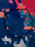Blue and pink Geometry form background Royalty Free Stock Photography