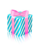 Blue pink gift box icon Royalty Free Stock Photography