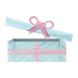 Blue and pink gift box open icon Royalty Free Stock Photo