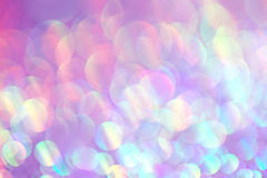 Blue and Pink Glittery Background Texture. Colorful pink and blue glitter bokeh, soft background texture Stock Photo