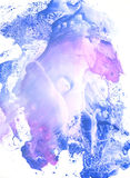 Blue and pink gouache painting royalty free stock image