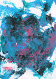 Blue, pink and gray abstract hand painted background Stock Images