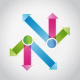 Blue, pink and green, arrow infographics Royalty Free Stock Photos