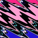 Blue pink green purple black fluid waves geometries. Forms and fluid lines background Stock Photography