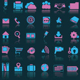 Blue pink icons Stock Images