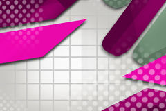 Blue and pink irregular geometry, abstract background Royalty Free Stock Photo