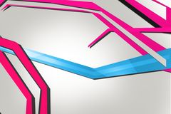 blue and pink line on corner, abstract background Stock Photos