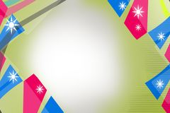 blue and pink line with stars, abstract background Royalty Free Stock Image