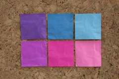 Blue, pink, magenta reminder notes Royalty Free Stock Image