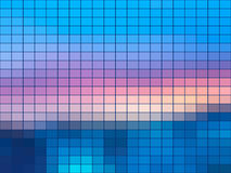 Blue pink mosaic square tiles background Stock Photos