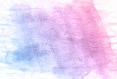 Blue and pink nature hand drawn watercolor background, raster illustration. Artistic watercolor paper paint background. Soft hand drawn texture. Illustration vector illustration