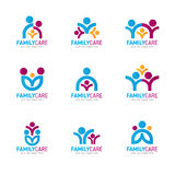 Blue pink orange Family care logo vector design Stock Images