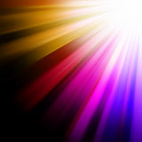 Blue, pink, orange luminous rays. EPS 8 Royalty Free Stock Image