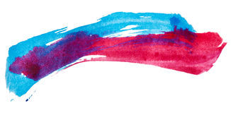 Blue and pink paint Royalty Free Stock Photos