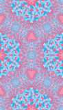 Blue pink paisley ornament. Background for textile Royalty Free Stock Images