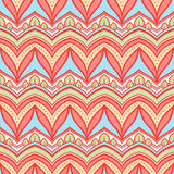 Blue and pink pattern with leaves Stock Photo