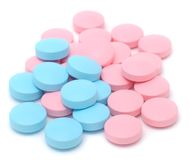Blue and Pink Pills Stock Photography