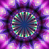 Abstract rotating background with kaleidoscopic object creating an illusion of movement Stock Photography