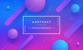 Blue, pink, purple Modern geometric abstract vector background with trendy gradient color. Gradient shapes composition royalty free illustration