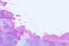 Blue, pink and purple watercolor texture background eiyh space for text stock illustration