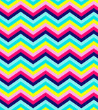 Blue, pink, red and turquoise chevron seamless Stock Photography
