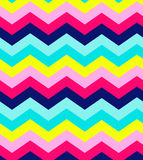 Blue, pink, red and turquoise chevron seamless Royalty Free Stock Image