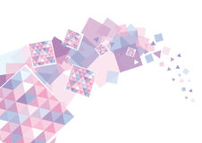 Blue and pink squares Royalty Free Stock Image