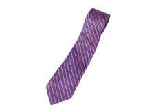 Blue and pink strips business neck tie Royalty Free Stock Photography