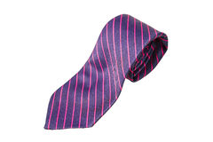Blue and pink strips business neck tie Royalty Free Stock Image
