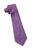 Blue and pink strips business neck tie Stock Photo