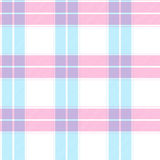Blue and pink tartan pattern Stock Images