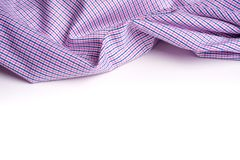 Blue and pink tartan or plaid  on white background. Blue and pink tartan or plaid  on white background Stock Images