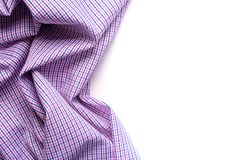 Blue and pink tartan or plaid  on white background. Blue and pink tartan or plaid  on white background Stock Photography