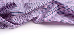 Blue and pink tartan or plaid  on white background. Blue and pink tartan or plaid  on white background Royalty Free Stock Image