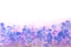 Blue pink texture with watercolor sky art. Abstract Watercolor Background Blue pink texture with watercolor sky art royalty free stock photography