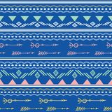 Blue pink tribal arrows seamless pattern royalty free illustration