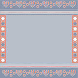 Blue, pink and white background with hearts. And circles Royalty Free Stock Image