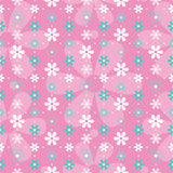 Blue pink and white flowers background Royalty Free Stock Image
