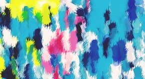 Blue pink yellow and black painting abstract Royalty Free Stock Photos